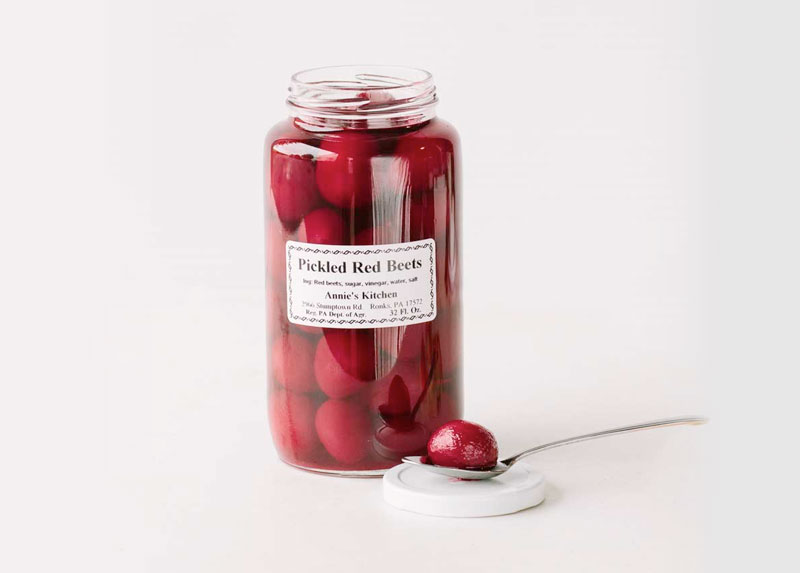 Canned Pickled Red Beets