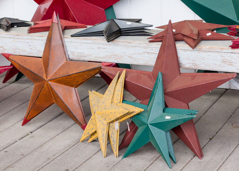 Rustic Tin & Copper Stars